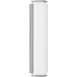 Z-1070 Metallic Gray Six-Inch Two-Light LED Outdoor Wall Sconce with Acrylic Shade