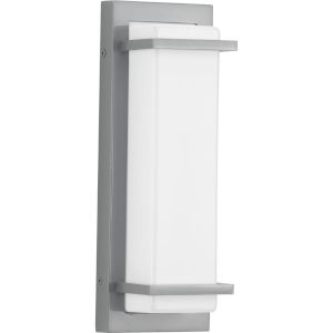Z-1080 Metallic Gray Five-Inch LED Outdoor Wall Sconce with Acrylic Shade