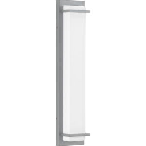 Z-1080 Metallic Gray Five-Inch Two-Light LED Outdoor Wall Sconce with Acrylic Shade