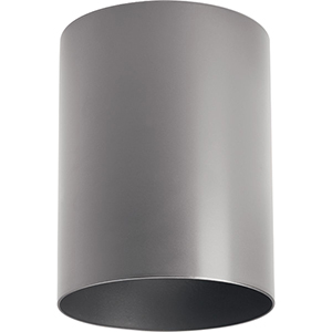 P5774-82/30K: Cylinder Metallic Gray One-Light LED Outdoor Ceiling Mount