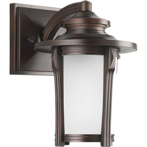 Pedigree Autumn Haze Seven-Inch One-Light Outdoor Wall Sconce with Etched Seeded Shade