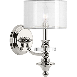 P710013-104: Marché Polished Nickel One-Light Wall Sconce