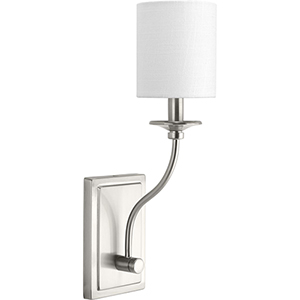 P710018-009: Bonita Brushed Nickel One-Light Wall Sconce