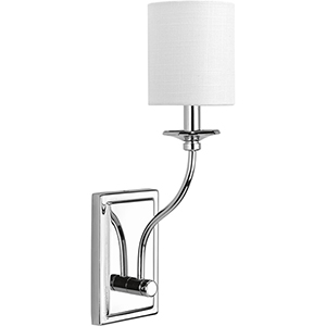 P710018-015: Bonita Polished Chrome One-Light Wall Sconce