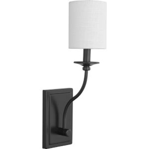 Bonita White and Black Five-Inch One-Light ADA Wall Sconce