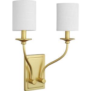 Bonita Satin Brass 14-Inch Two-Light ADA Wall Sconce