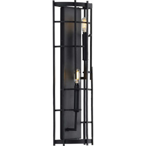 Torres Black Eight-Inch Two-Light ADA Wall Sconce