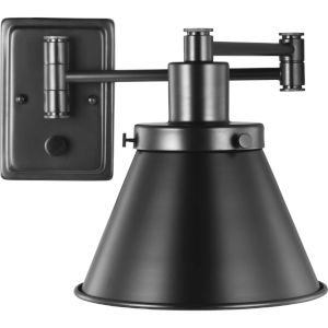 Hinton Black One-Light ADA Wall Sconce