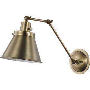 Hinton Vintage Brass Eight-Inch One-Light ADA Metal Wall Sconce