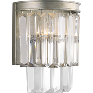 P7198-134: Glimmer Silver Ridge Two-Light Wall Sconce