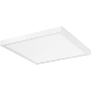 Everlume White 14-Inch LED Flush Mount with Diffused Shade