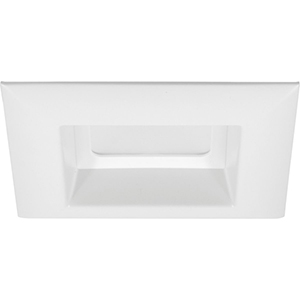 P8180-28-30K: White Four-Inch One-Light LED Energy Star Square Recessed Trim