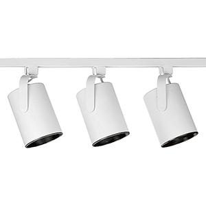 P9216-28: Alpha Trak White Three-Light Halogen Track Light Kit