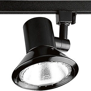 P9220-31: Black One-Light Halogen Track Light Head