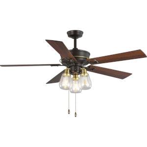 Teasley Bronze 56-Inch LED Three-Light Ceiling Fan