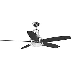 P2568-1530K: Kudos Polished Chrome 52-Inch LED Ceiling Fan