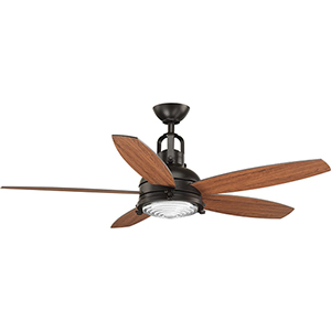 P2568-2030K: Kudos Antique Bronze 52-Inch LED Ceiling Fan