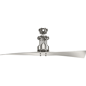 P2570-09: Spades Brushed Nickel 56-Inch Ceiling Fan