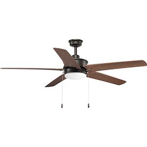 P2574-2030K: Whirl Antique Bronze 60-Inch LED Ceiling Fan