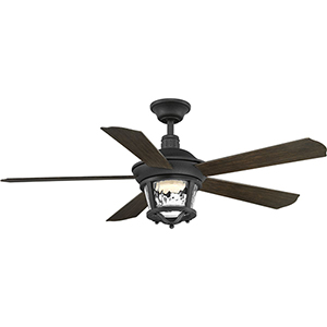 P2576-8030K: Smyrna Forged Black 52-Inch LED Ceiling Fan
