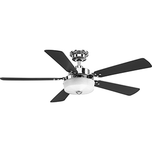 P2578-1530K: Tempt Polished Chrome 54-Inch LED Ceiling Fan