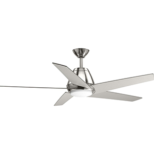 P2582-0930K: Gust Brushed Nickel 54-Inch LED Ceiling Fan