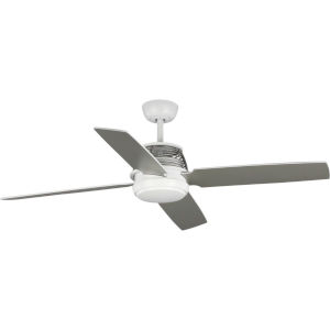 Shaffer Satin White 56-Inch Ceiling Fan