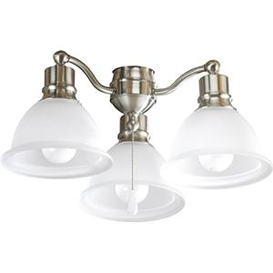 P2623-09WB: Madison Brushed Nickel Three-Light LED Light Kit