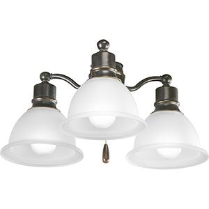 P2623-20WB: Madison Antique Bronze Three-Light LED Light Kit