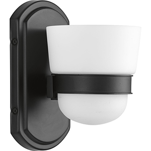 P300076-031: Index Black One-Light Bath Sconce