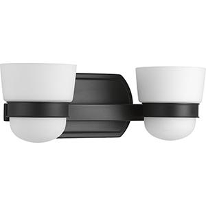 P300077-031: Index Black Two-Light Bath Vanity