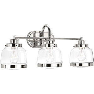 P300082-104: Judson Polished Nickel Three-Light Bath Vanity