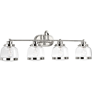 P300083-104: Judson Polished Nickel Four-Light Bath Vanity