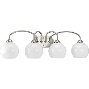 P300087-009: Carisa Brushed Nickel Four-Light Bath Vanity