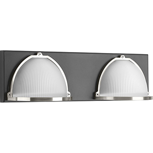 P300091-143-30: Ponder Graphite Energy Star Two-Light LED Bath Vanity