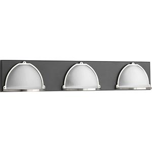 P300092-143-30: Ponder Graphite Energy Star Three-Light LED Bath Vanity