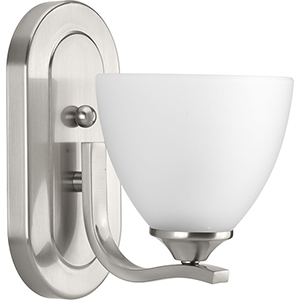 P300095-009: Laird Brushed Nickel One-Light Bath Sconce