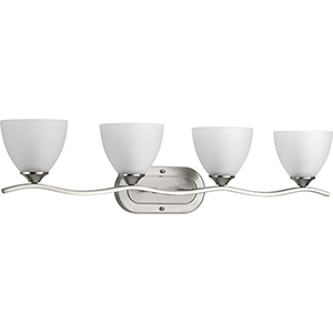 P300098-009: Laird Brushed Nickel Four-Light Bath Vanity