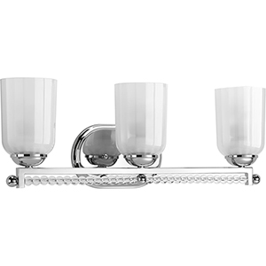 P300102-104: Carlyn Polished Nickel Three-Light Bath Vanity