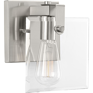 P300105-009: Glayse Brushed Nickel One-Light Bath Sconce