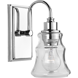 P300137-015: Litchfield Polished Chrome One-Light Bath Sconce