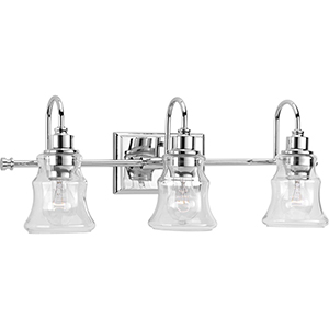 P300139-015: Litchfield Polished Chrome Three-Light Bath Vanity