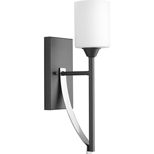 P300144-143: Dart Graphite One-Light Wall Sconce