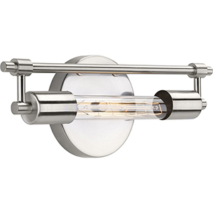 P300148-009-WB: Circuit Brushed Nickel One-Light Bath Sconce