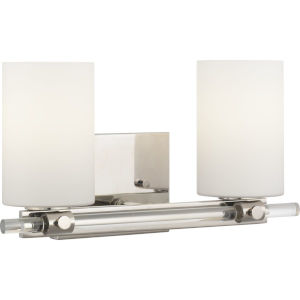 Lisbon Polished Nickel Two-Light Bath Fixture
