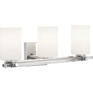 Lisbon Polished Nickel Three-Light Bath Fixture