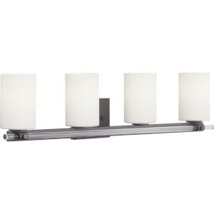 Lisbon Black Four-Light Bath Fixture