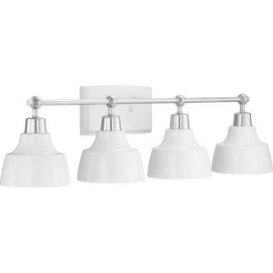 Bramlett Polished Chrome Four-Light Bath Fixture