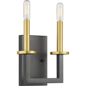 Graphite Two-Light wall sconce