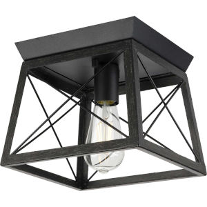 Briarwood Textured Black One-Light Flush Mount Ceiling Light